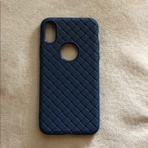 Accessories - Iphone x case. Navy blue color